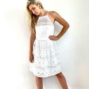 Trina Turk White Embroidered Lace Dress New Sz 10